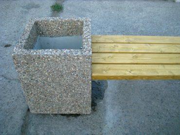 Лавка с основой из каменной крошки