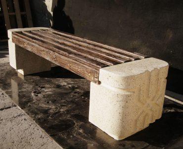 Лавка с основой из полированного бетона