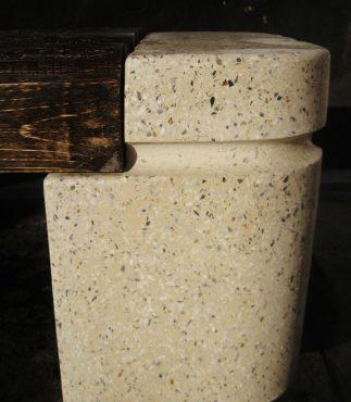 Лавка парковая полированный бетон