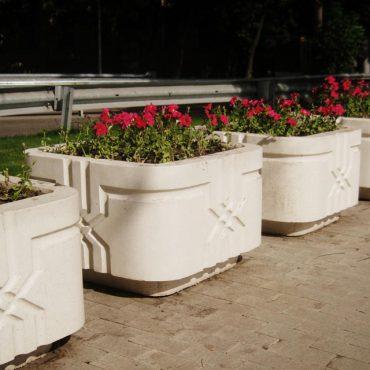 Цветочницы из полированного бетона
