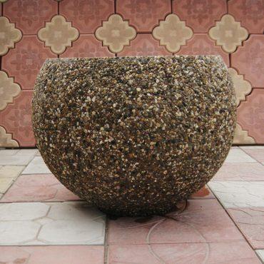 Цветочница-круглая каменная крошка